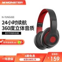 魔声N450头戴式音乐听歌专用蓝牙耳机双耳麦重低音耳降噪跑步无线