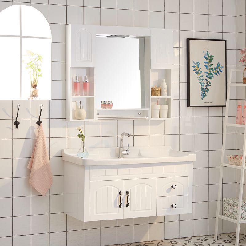 简约pvc柜欧式浴室柜浴室柜镜柜限时秒杀