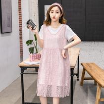 2020新款夏装准妈妈连衣裙大码夏季孕妇女装适合18至20-25到30岁