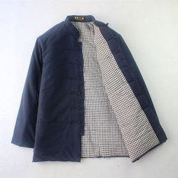 唐装男棉衣 冬装纯棉粗布中国风加厚中式盘扣中老年棉袄棉服汉服