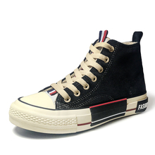 2019 spring new high-top canvas shoes female Korean version of ulzzang Harajuku students flat bottom wild ins board shoes tide