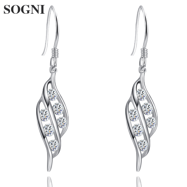 925 silver pure Tremella Earrings womens jewelry leaf silver jewelry stars birthday gift package accessories Valentines Day