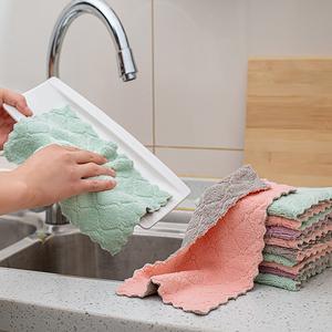 家用懒人家务清洁洗碗巾抹布吸水不掉毛厨房去油擦桌百洁布不沾油