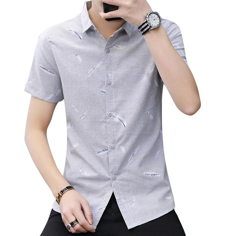 【吉普盾】男士商务短袖衬衫