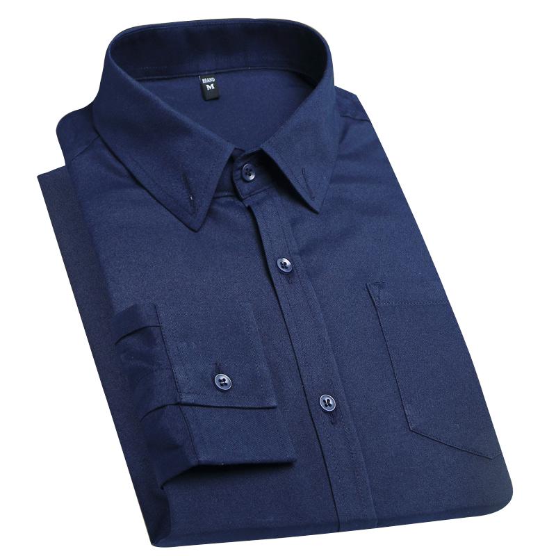 男装新款长袖衬衫男秋季男士休闲时尚百搭白衬衣青年潮流纯色衬1