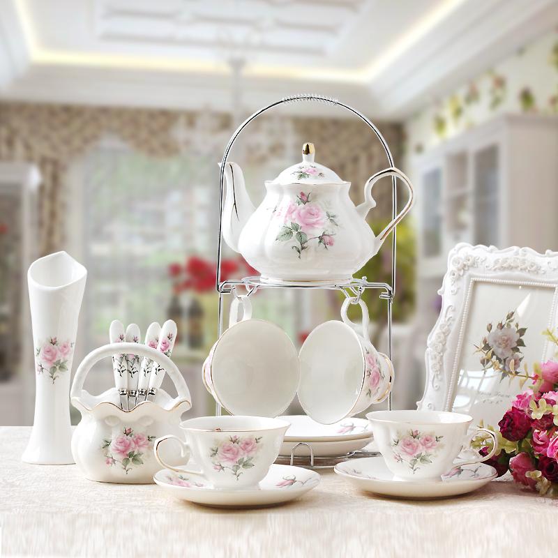 Каждый день специальное предложение 15 голову кофе отрицать континентальный керамика чашка инструмент британская днем чай кофе костюм красный чайный сервиз