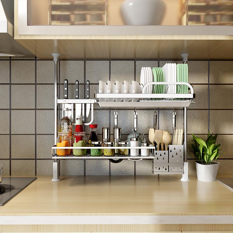 304不锈钢厨房免打孔diy置物架券后130.00元