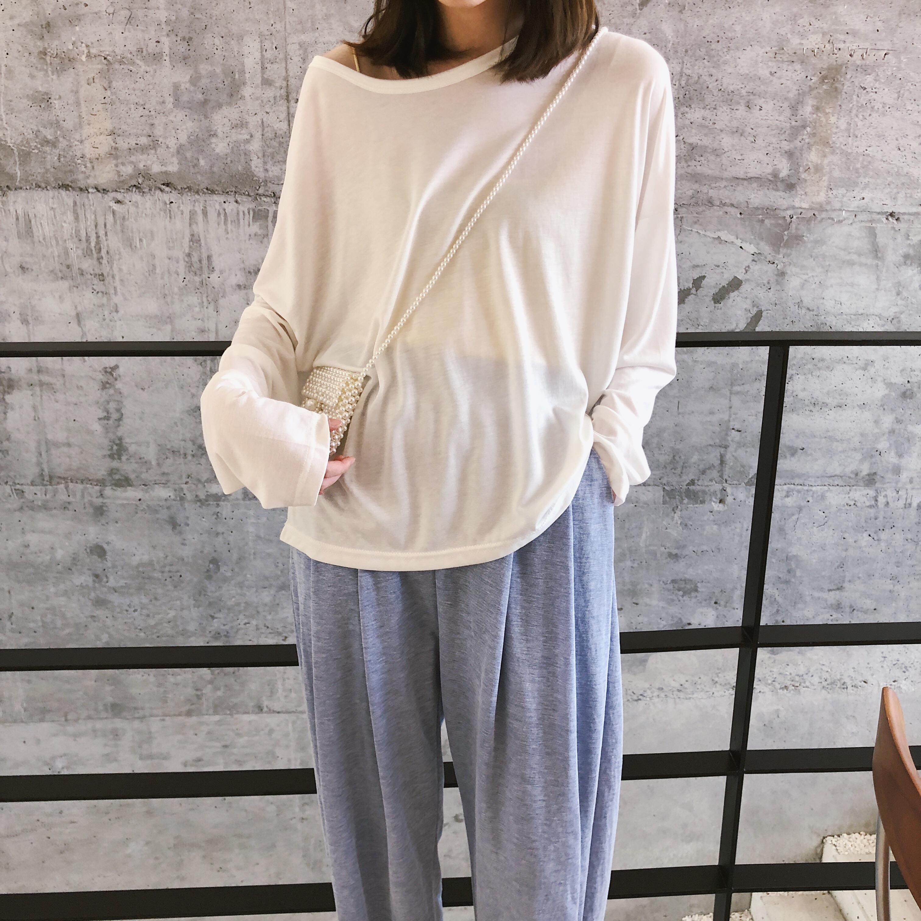 苏安家 夏天穿超舒服面膜般的丝滑感轻薄半透长袖T恤半透防晒衫