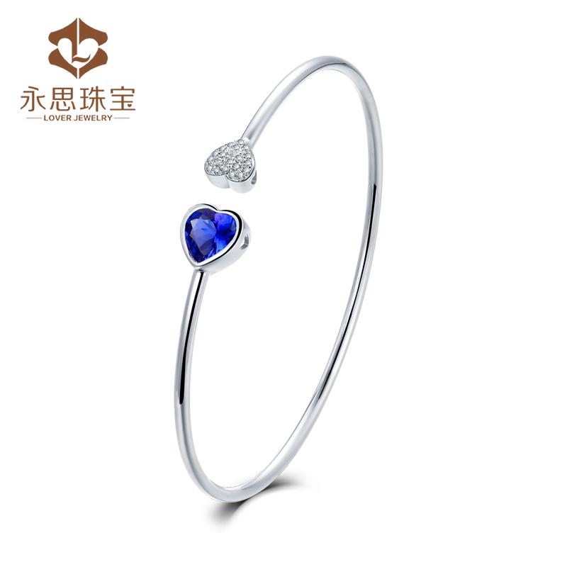Yongsi JEWELRY 1 carat 18K gold natural tansang stone bracelet for women