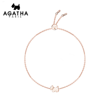 Agatha 925 Silver Dog simple personality adjustable jewelry accessories girl lovers gift Bracelet girl