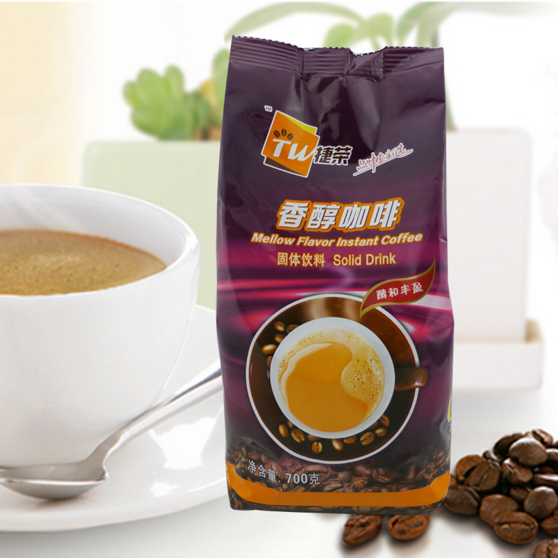 Jierong mellow coffee three in one instant coffee powder 700g coffee milk tea shop solid beverage catering bag