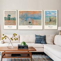 芯世界名画喷绘画批发油画仿手绘油画欧式客厅装饰壁画
