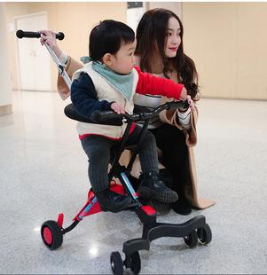 溜娃神器六轮便携式宝宝轻便三轮车