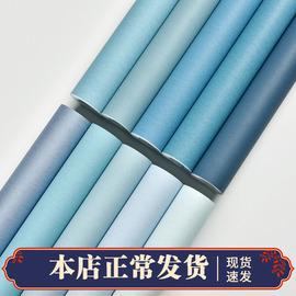 天蓝淡蓝深蓝地中海浅蓝色灰蓝色墙纸纯色卧室电视背景客厅壁纸
