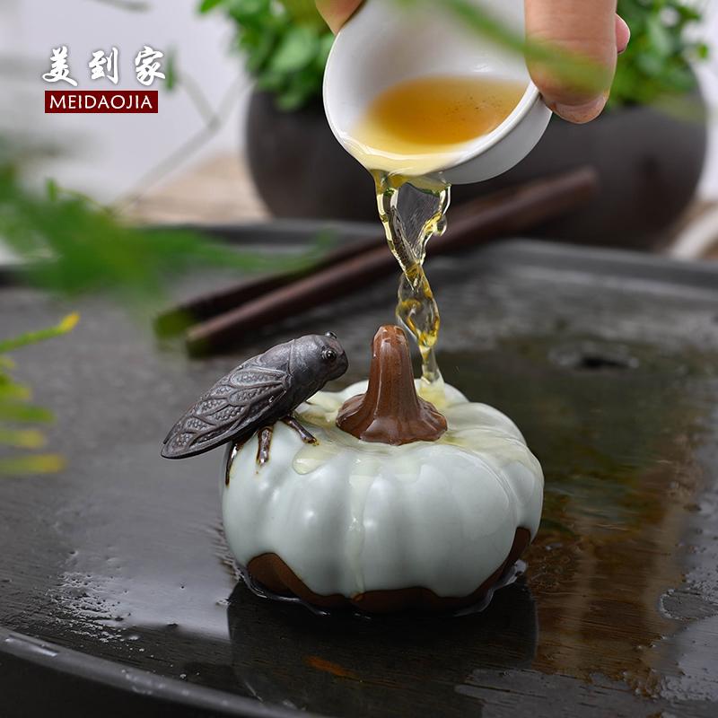 茶宠摆件精品开片可养茶盘