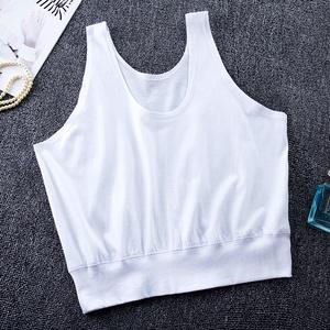 3件装 夏中老年短背心内衣女纯棉大码老人汗衫胸罩妈妈吊带薄背心