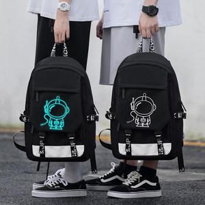 高中初中学生书包男小学生背包时尚潮流韩版轻便卡通大容量双肩包