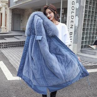 冬装2019年新款派克服女韩版宽松棉衣女学生冬季羽绒棉服女中长款
