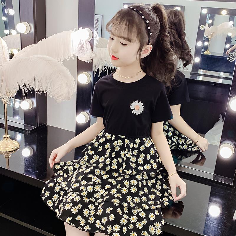 女童连衣裙夏装2020新款洋气女孩小雏菊公主裙短袖儿童裙子韩版潮