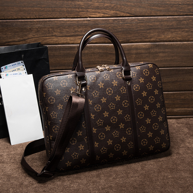 New summer business leather bag in Europe and America in 2018