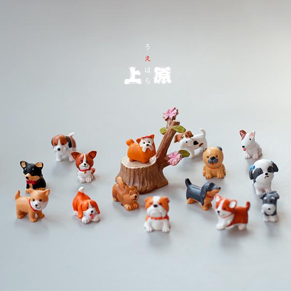 [上原凛]正版散货 可爱萌物小狗狗各种犬类迷你树脂摆件公仔玩具