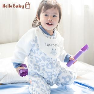 宝宝连体衣秋冬女加厚保暖洋气婴儿衣服哈衣爬服男秋装 夹棉外出