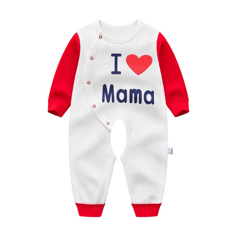 寶寶哈衣純棉春秋嬰兒衣服 新生兒睡衣開襠連體衣 嬰幼兒童爬爬衣