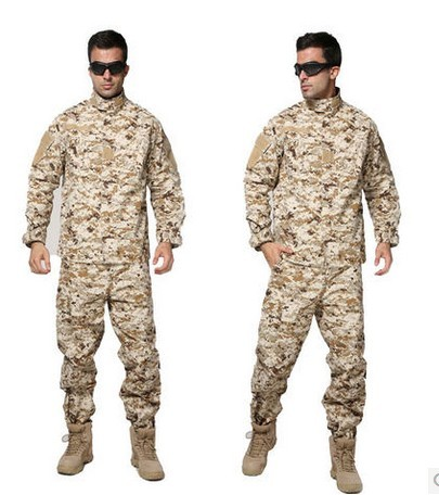 精工版 美国大兵沙漠数码迷彩套服 军迷户外CS作训外套 野战套装