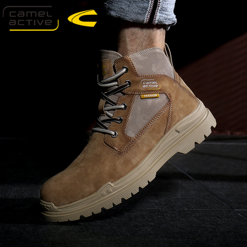 German camel dynamic Martin boots mens boots British style high top shoes Plush wool tooling boots short boots snow boots