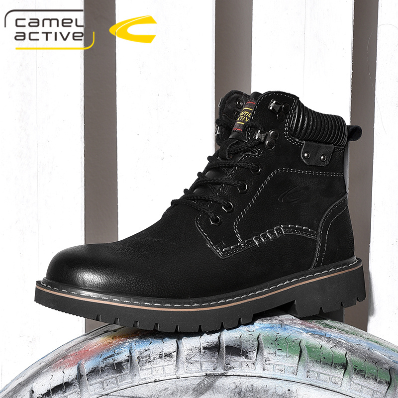 German camel dynamic Martin boots mens Leather Mens shoes versatile short boots tooling boots 2019 new casual Boots Mens shoes
