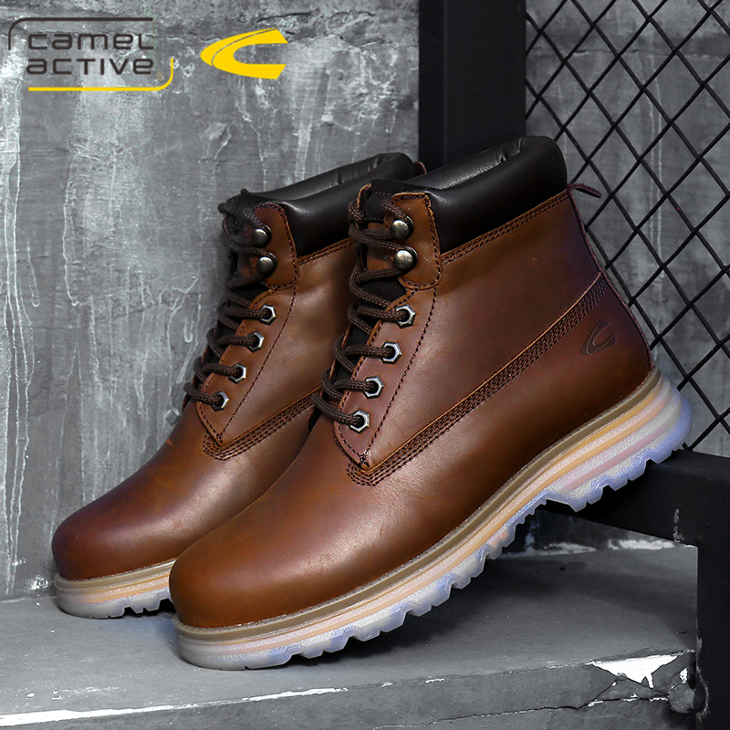 German camel dynamic Martin boots mens boots high top cotton shoes wool warm boots snow boots tooling short boots tide boots