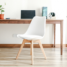Nordic Eames chair solid wood dining chair modern minimalist office meeting meeting fabric adult home chair