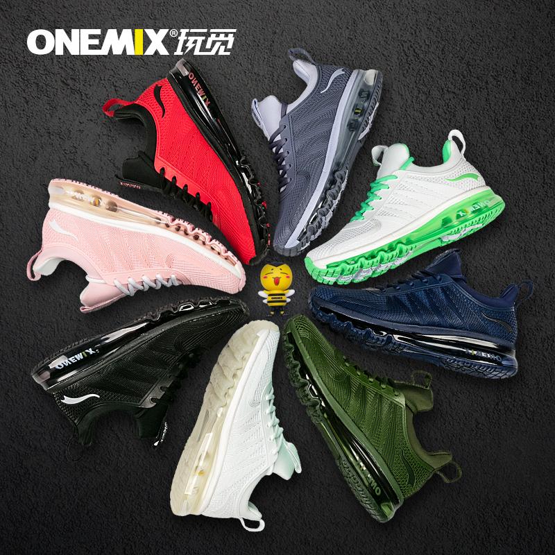 onemix玩觅跑步鞋气垫鞋男全掌运动鞋超轻减震夏季新款女耐磨透气
