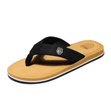 Flip flop men's antiskid summer trend personalized beach shoes outdoor sandals with feet clipped fashion wear large men's slippers