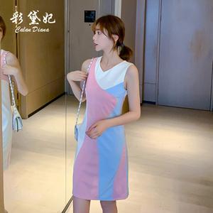 泫雅风背心裙女夏2021新款韩版修身无袖短款性感内搭连衣裙包臀裙