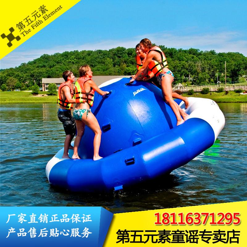 水上充气陀螺跷跷板风火轮香蕉船陀螺蹦床跳漂浮物水上乐园玩具