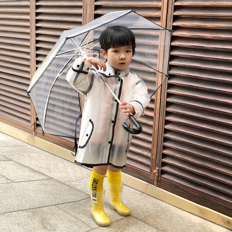 儿童雨衣男童女童小童幼儿园宝宝小学生小孩透明雨披雨具