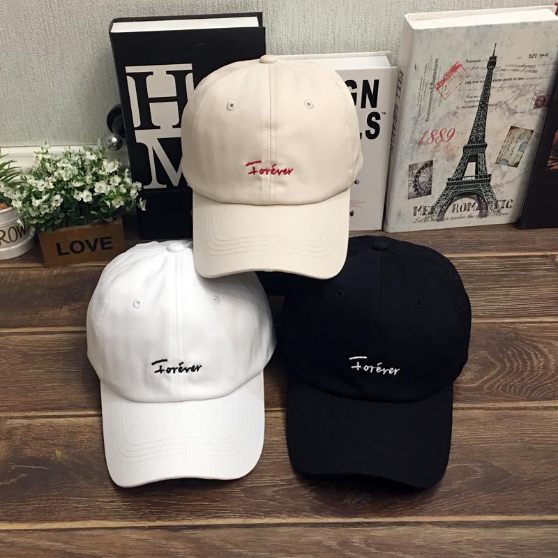鸭舌帽子男女软顶棒球帽遮阳帽夏季ins白色男生潮流韩版帅气百搭