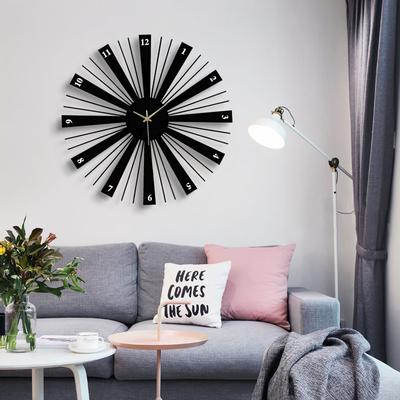 北欧时尚创意现代钟表客厅挂钟圆形装饰个性挂表欧式静音时钟艺术