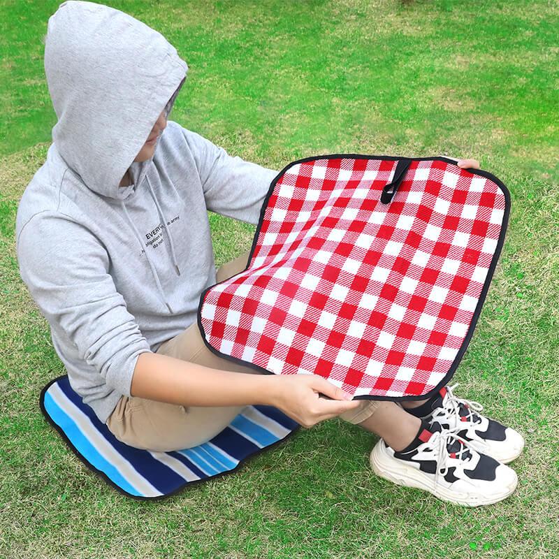 野餐垫ins风户外郊游防水小坐垫防潮野餐布草坪坐垫沙滩瑜伽坐垫