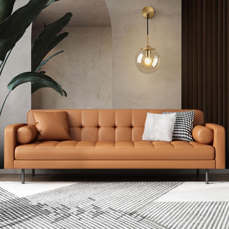 轻奢小户型客厅双人三人位皮沙发质量靠谱吗