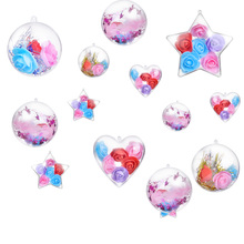 Transparent Sphere Hollow Sphere Plastic Sphere Valentine's Day Shop Decorative Hanging Ball Creative DIY Decorative Ball Arrangement Hanging