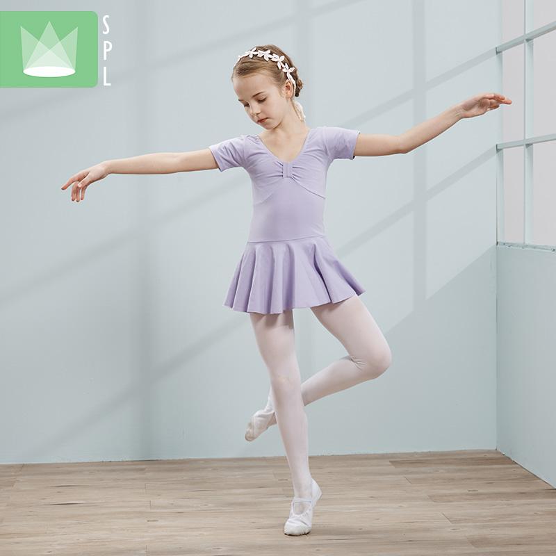 尚品琳夏季新款儿童练功服女童舞蹈服女孩连体芭蕾舞裙表演出服装