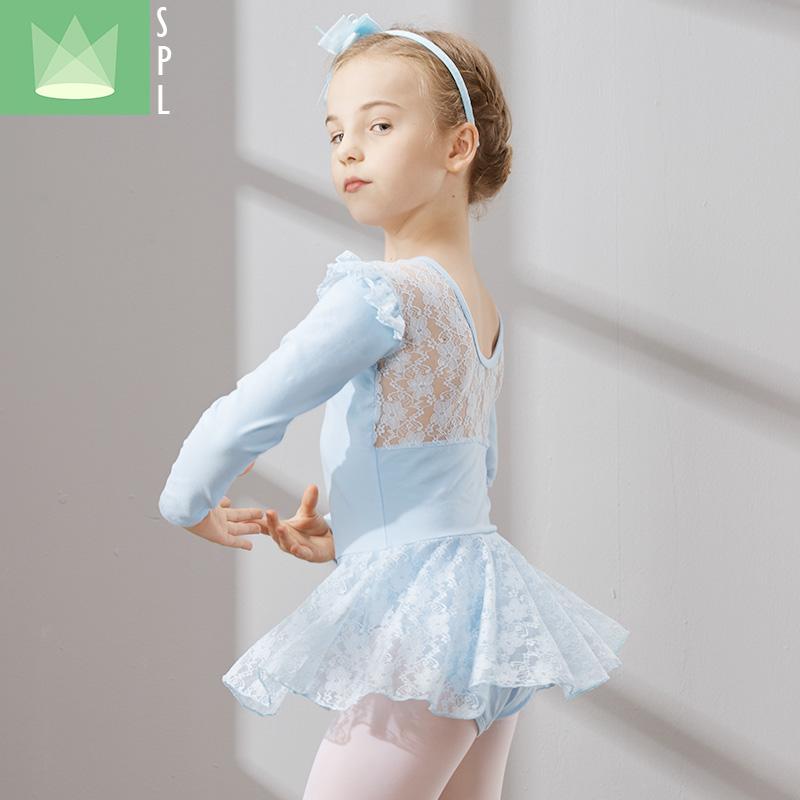 尚品琳春季儿童舞蹈服装长袖芭蕾舞裙考级服幼儿练功服演出服女童