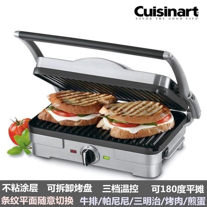 美国Cuisinart多功能牛排机家用帕尼尼机三明治机煎烤机汉堡机