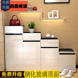 鞋柜烤漆组合柜 高低隔断玄关阶梯双面鞋柜 现代简约门厅储物柜