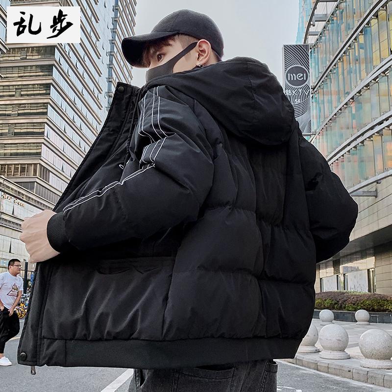 棉衣男士春季外套2020新款韩版羽绒棉服女潮流加厚保暖连帽棉袄潮图片