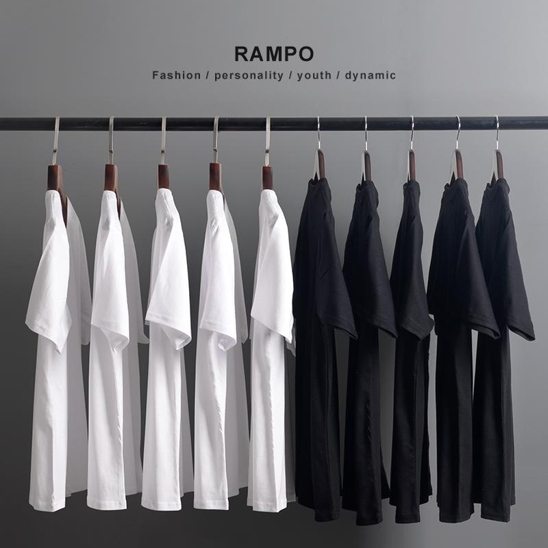日本重磅厚实纯棉纯色短袖T恤男女同款全棉圆领打底衫潮白色半袖