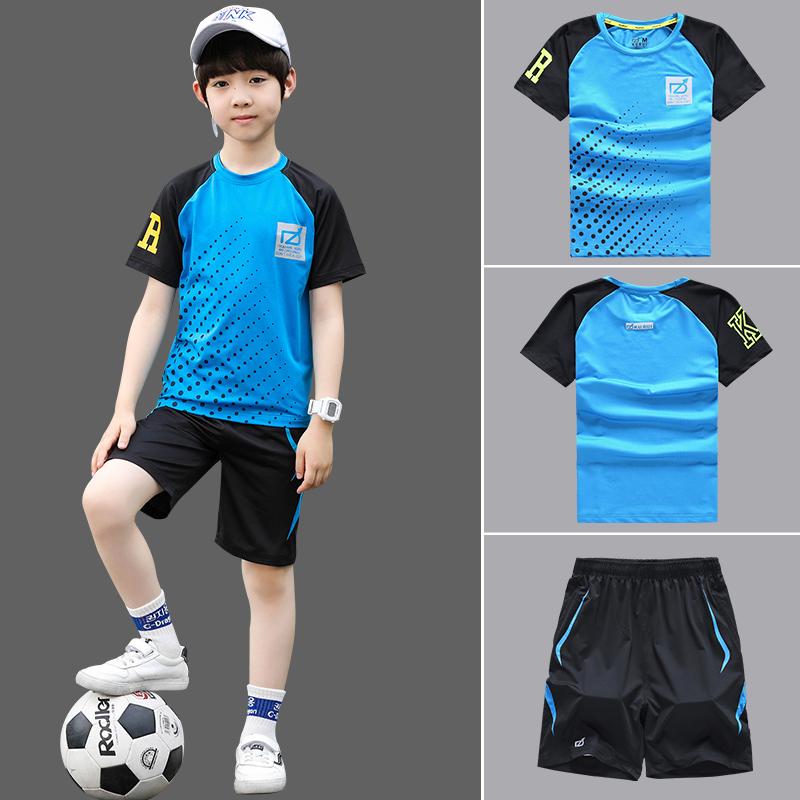 男童夏装2019新款套装8十11大童洋气13小学生男孩运动衣服12-15岁