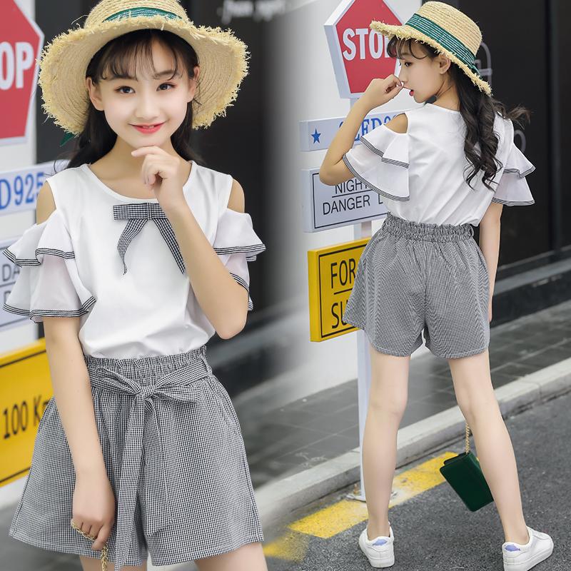女童夏装2018新款时髦套装12岁大童装15初中生时尚洋气10女孩潮衣
